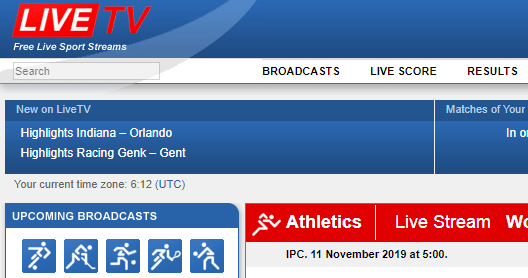 LiveTV Sports Streaming Site