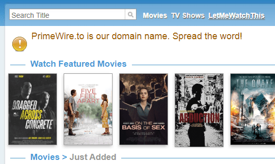 primewire - sites like M4uFree Movies