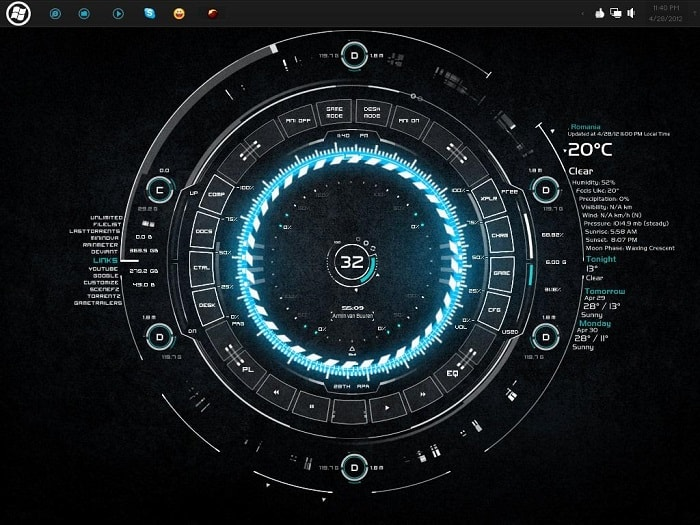 tech a rainmeter skin