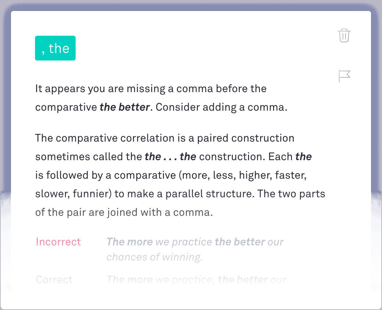 Grammarly Punctuation Checker
