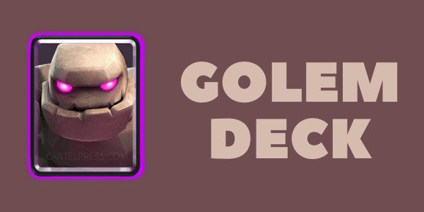 GOLEM CLASH ROYALE DECK