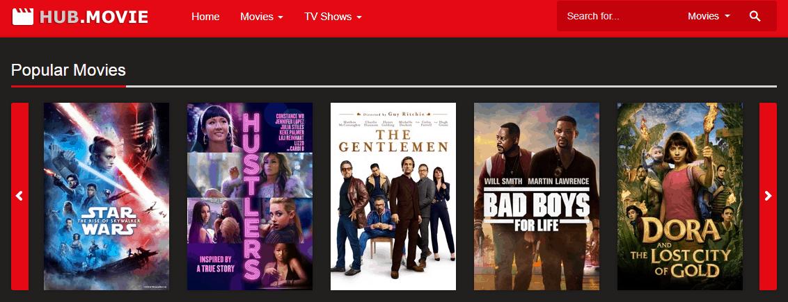 Hub.Movie - Alternative Sites Like M4uFree