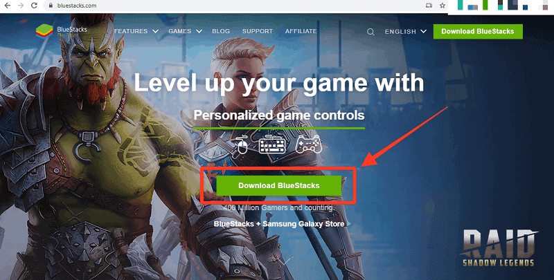 BlueStacks Website