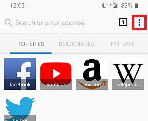 Change Firefox Browser Default Home Page Android Device