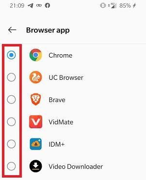 Set Android Default Browser