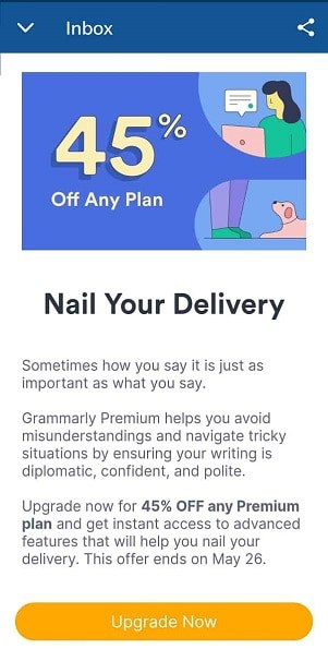 Grammarly 45 Off