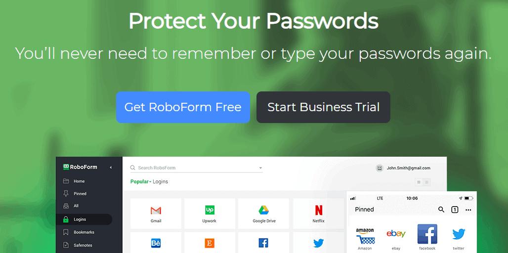 RoboForm Password Managing Service