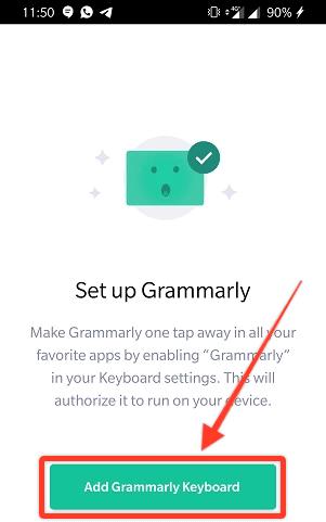 Add Grammarly Keyboard