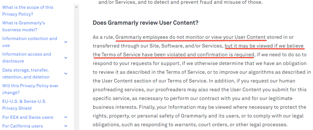 Is Grammarly Safe For Saving Your Document
