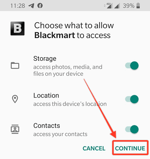 Blackmart Apk Install Permissions