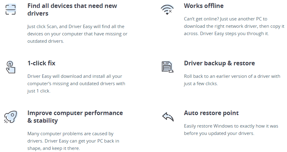 Driver Easy Features