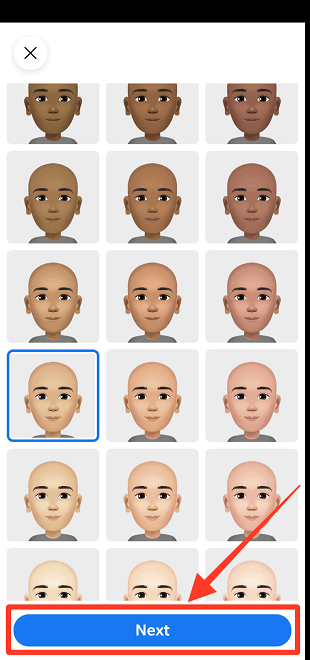 Facebook Avatar Skin Color