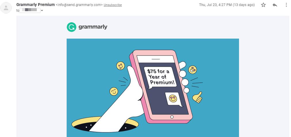 Grammarly Discount $75 USD Offer