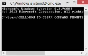 how to clear command prompt?