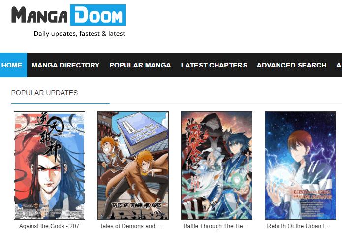 MangaDoom - New Manga Website
