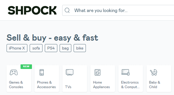 Shpock - Alternative to Mercari Website