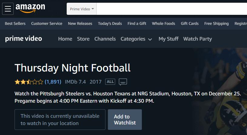 Amazon Prime NFL