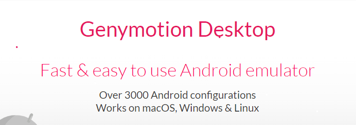 GenyMotion OS For PC