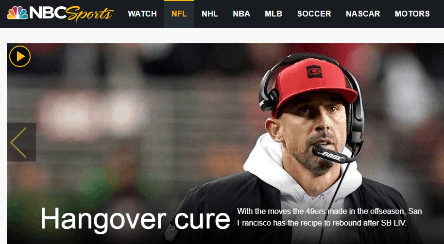 NBC Sports Football Live Streaming Website