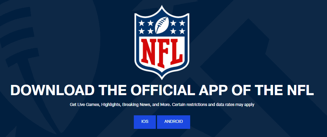 NFL Live Streaming Mobile Apps