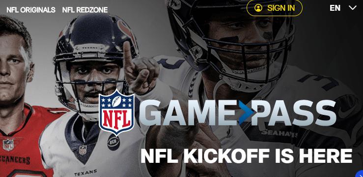 NFLGamePass Live Football Streaming Website Page