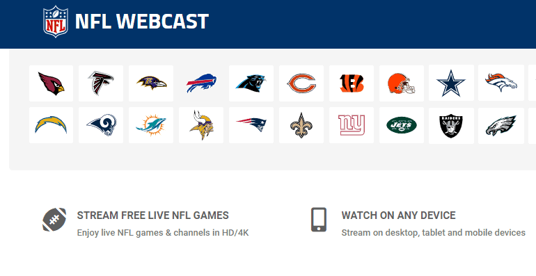 NFLWebcast Live Streaming Site