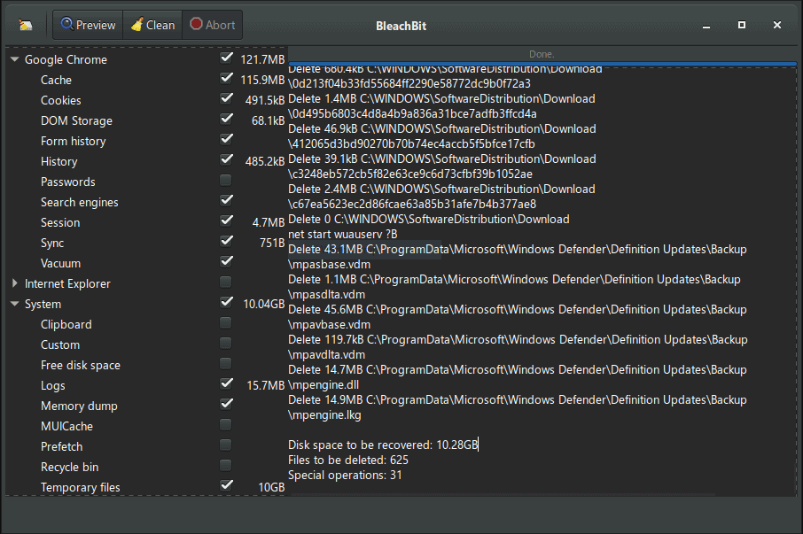 BleachBit PC Cleaner