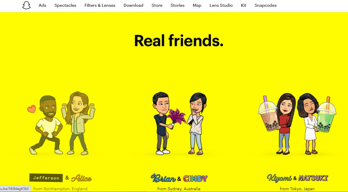 Snapchat.com website