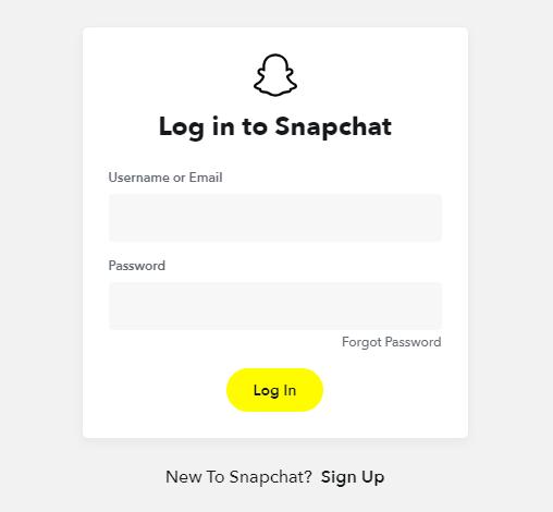 Snapchat log in