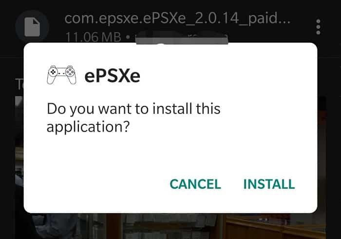 ePSXe Apk Install