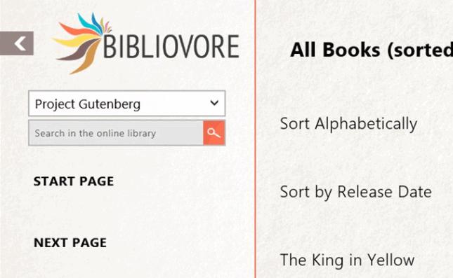 Bibliovore ePub Reader