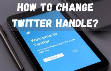 How To Change Twitter Handle?