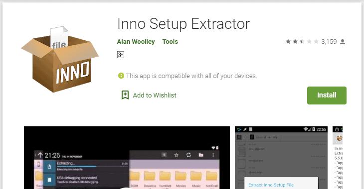 Inno Setup Extractor - .exe to .apk converter