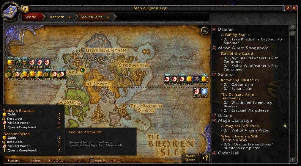 World Quest Tracker