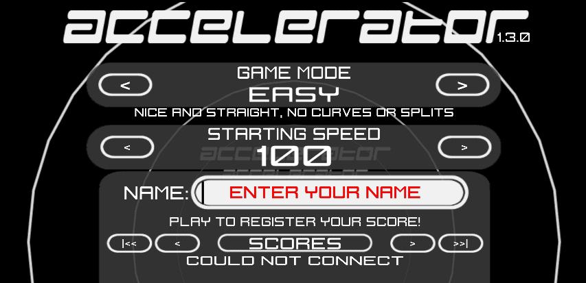 Accelerator Flash Game