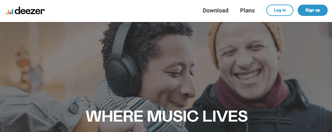 Deezer - FREE Music Streaming Sites