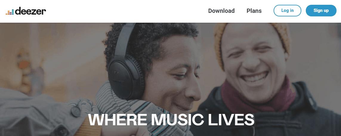 Deezer - FREE Music Streaming Sites