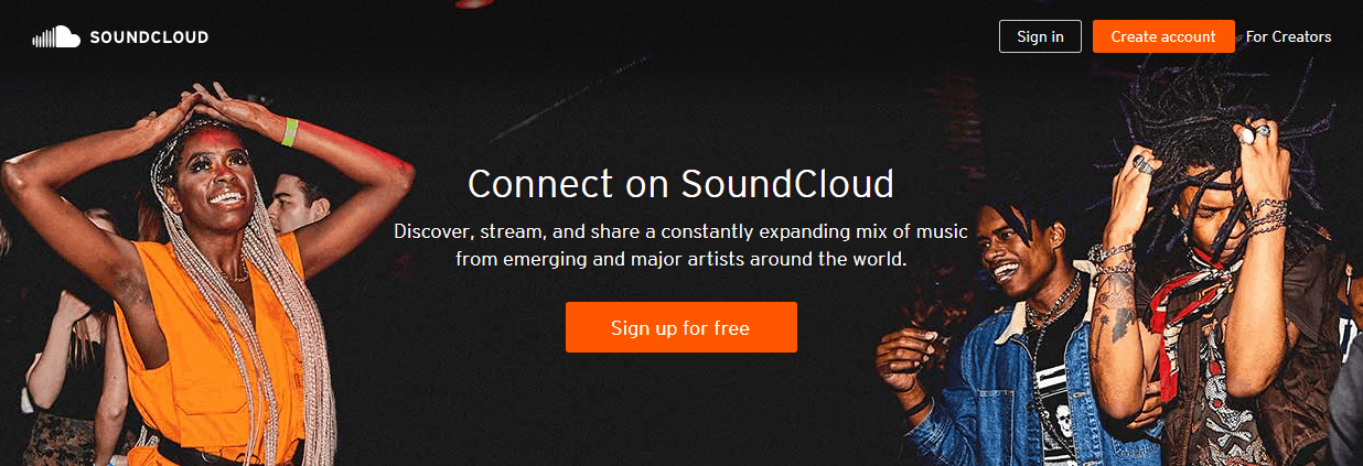 SoundCloud Music Streaming Sites