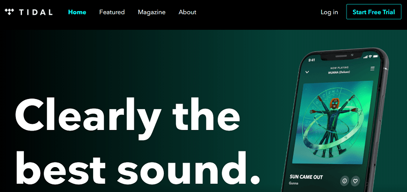 Tidal Music Streaming Website