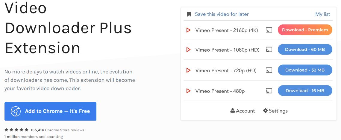 Chrome Video Downloader Plus Extension - Best Chrome Video Downloader