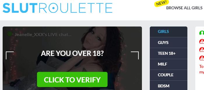 SlutRoulette - 18+ Chat Rooms