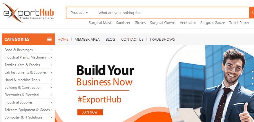 ExportHub.com - Alternative Website Like Alibaba