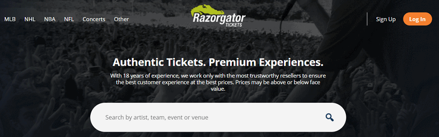 RazorGator - Ticket Resale Website