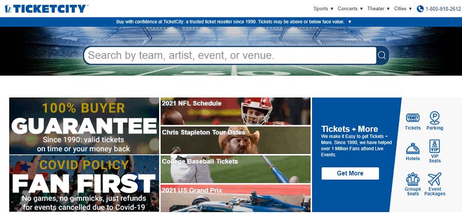 TicketCity - Ticket Resale Website