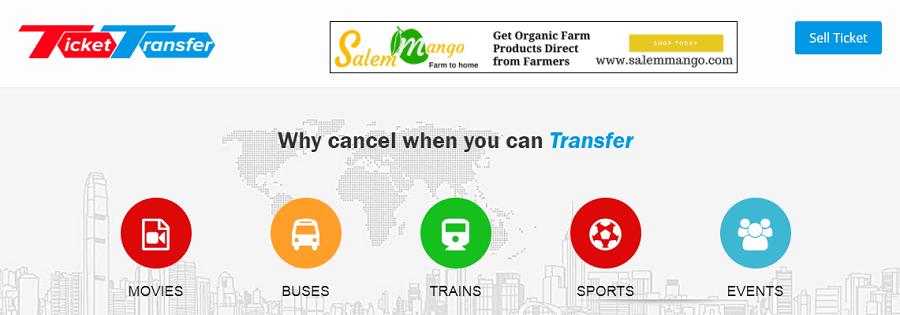 TicketTransfer - Indian Ticket Resale Website