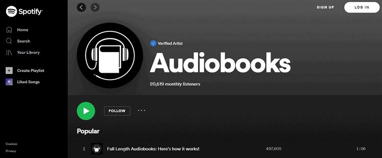 Spotify AudioBooks