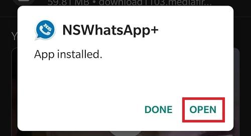Install NS WhatsApp