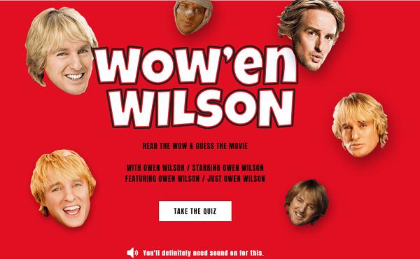 The Wow'en Wilson Quiz